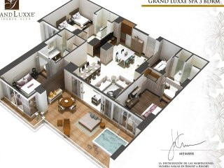 Luxury Grand Luxxe 3 Bedroom Spa Tower