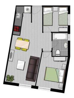 Plano del apartamento