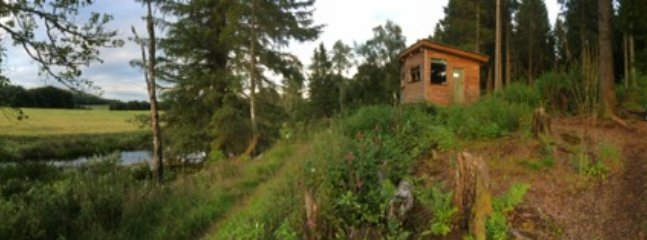 The Hideaway sits on the Cateran Trail