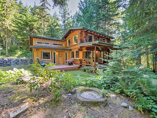 NEW! Rustic 3BR Sequim Cabin w/ Forest Views!
