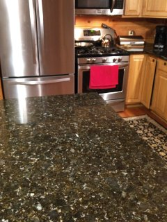 Kitchen new appliances and granite