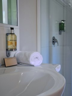 Complementary Molton Brown toiletries in both bathrooms.  Fluffy towels too