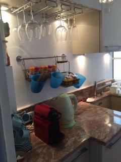 Kitchen with tea/coffee machines