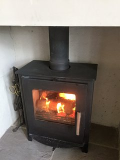 Multi-fuel stove, lovely in winter!