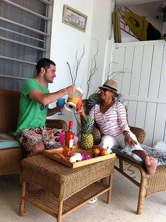 mojitos and piña coladas on your private patio