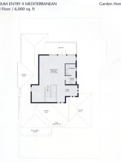 3rd Floor Master Suite (Actual plan is larger with bathroom on bottom left)
