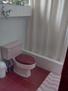 Shower bathroom with plenty of hot water.