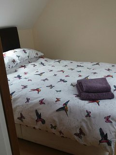 Have a great sleep in the cosy bed with feather duvet for extra comfort.