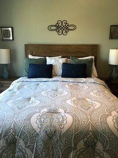 Master bedroom Queen size bed.