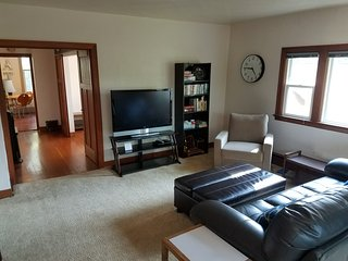 Fantastic 2 bedroom apartment with deck and full kitchen. Full 2nd floor.