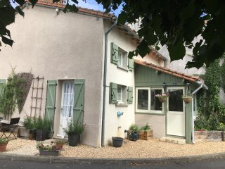 Cute Stone Cottage with Pool in L'isle Jourdain, 86150