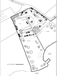 Westcove House, The Stables and Garden Cottage site plan