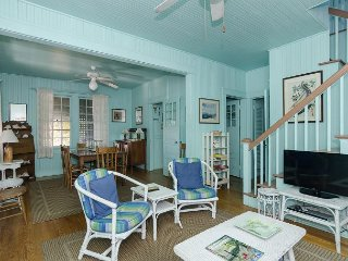 Revel in vintage beach cottage charm at the south end of the beach