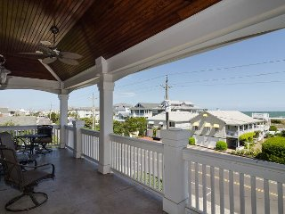 Grand single family home with a private pool and a short walk to the beach