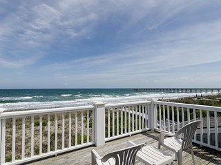 Magnificent views from two private decks at this amazing oceanfront home