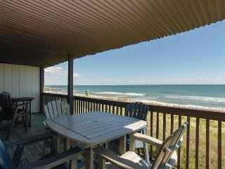 Relax and enjoy this beautifully decorated oceanfront at desirable Sea Colony