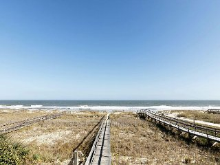 Unique single family home right on the ocean not far from the Kure Beach Pier
