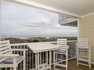 Enjoy beautiful views from this oceanfront condo located by community pool