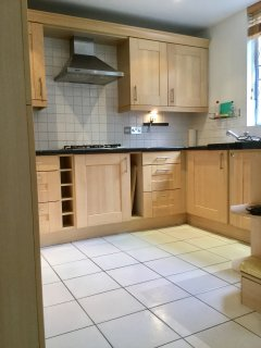 Great family kitchen dining room overlooks our mature garden.