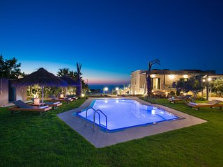 A brand new and private luxury villa with seaview from balcony and the pool.