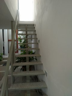 This stairs will take you to your apartment rental