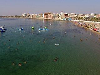 Disfrutaras detu solárium con barbacoa en la playa