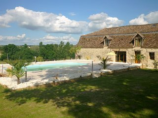 Set in the grounds of a chateau with wonderful views of rolling countryside