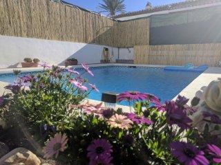 Villa 2hab, 500m de Burriana, piscina privada