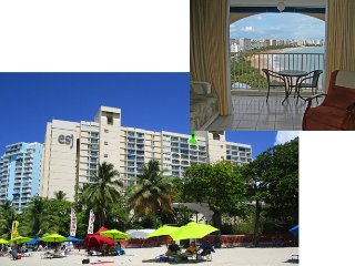 Isla Verde Beach! Spectacular Full Ocean View - Beach Front, WIFI, Free Parking