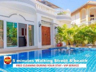 6 bedrooms villa near the beach and walking street