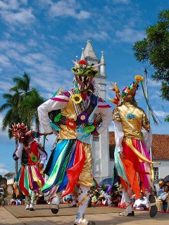 Corpus Christi Festival is a week long event and just 40 minutes from the house in La Villa.
