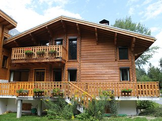 Grand chalet luxueux en madriers a Chamonix - Les Praz