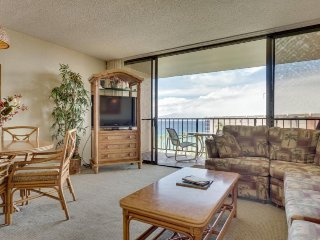 Kaanapali Shores 943 w/ ocean views, lanai, resort pools & hot tub