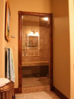 steam shower in main house