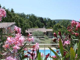 Gîte en Luberon dans parc arboré avec piscine chauffée