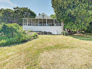 Beachfront 3BR Cottage w/ Porch, Private Beach, Grill, & Tennis Courts