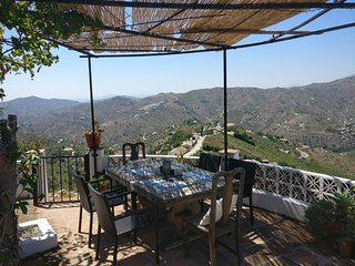 Rustic Mountain Villa, with stunning views, 25 mins from the sea.