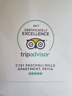 TripAdvisor certificate of excellence :)