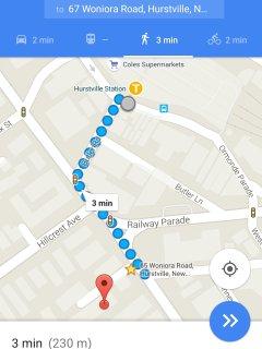 Only few steps walk to Hurstville station