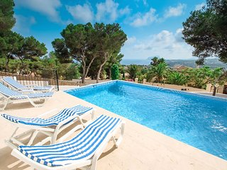El Gaucin - sea view villa with private pool in Moraira