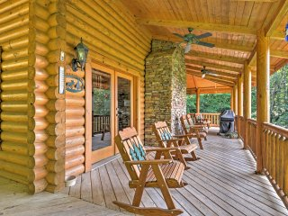 NEW! 4BR Lansing Cabin w/ Huge Wrap-Around Deck!