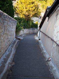 Sentier menant au gite