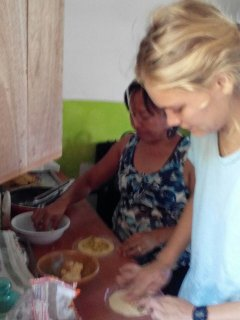 Learning to cook Guatemalan food