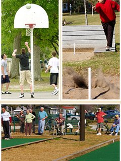 Basketball and horseshoes