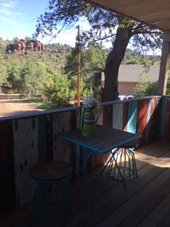 front deck, great place to have your morning coffee and enjoy the view and the birds