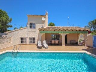 Linea - sea view villa with private pool in Teulada