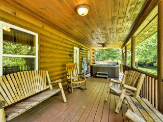 Bryson City Log Cabin on Creek w/ Deck & Hot Tub!