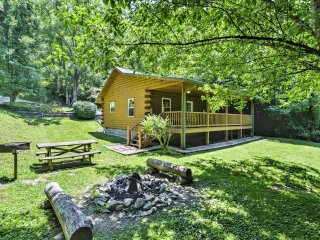 2BR Bryson City Cabin w/Hot Tub on Creek!