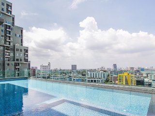New relaxing style next to BTS(skytrain) cozy, wifi, clean, smart TV50""