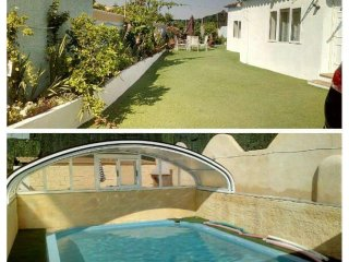 Casa Solar, private heated covered pool & gardens, villa near beach & town.